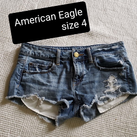 American eagle size distressed denim shorts